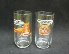 New listing 9-Lives Cat Food Icon Morris Drink Glass Set Pair Lot 2 Vintage Funny Humorous