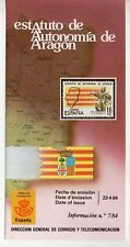 España Estatuto de Autonomía de Aragón año 1984 (DO-296)