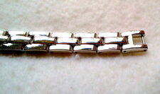 Inches Long With Clip Closure Mens Silver Steel Bracelet 8