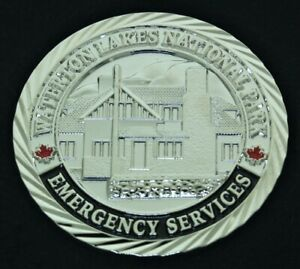 Canada Waterton Lakes National Park Police Fire Rescue Challenge Coin CC-18