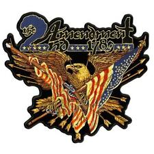 JUMBO 2nd AMENDMENT 1789 EAGLE PATCH JBP74 biker LARGE JACKET patches GUNS NEW