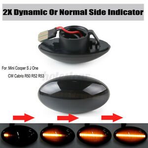 Dynamic LED Side Repeater Indicator Lights For Mini Cooper MK1 S JCW R