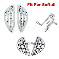 Chrome F&R Floorboard &Brake Arm Kit Shift Lever Shifter Pegs Fit For Softail