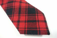 BAR III 3 PLAID CHECK RED BLACK SOFT COTTON 2.5 INCH WIDTH NECK TIE MENS NWT NEW