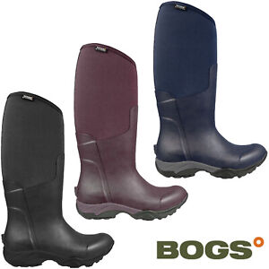 Bogs Womens Wellingtons Boots Essential Light Solid Insulated Neoprene UK 4-8