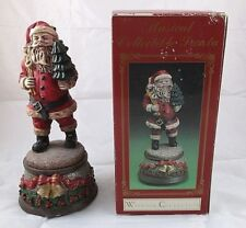 Windsor Collection Musical Santa Claus Christmas Tree Figurine Original Box