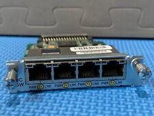 Cisco HWIC-4ESW 4 Port 10/100 Ethernet Switch Interface Card, Genuine