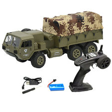 6WD 1/16 FY004 Military Truck 2.4G Remote Control Climbing RC Car Vehicle Gift