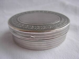 ANTIQUE FRENCH STERLING SILVER PILL BOX,LOUIS 16 STYLE ,EARLY 20th CENTURY,