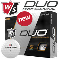Wilson Staff Duo Professional Golf Balls Dozen Pack White - NEW! 2020