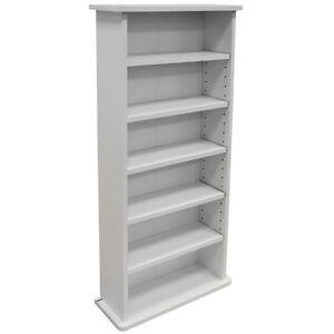 CHAK -  222 CD or 104 DVD Blu-ray Media Storage Shelf Unit - White MS0246
