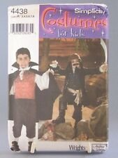Simplicity Costume Child Boys 4438 Pirate Vampire Kids 3-8 Andrea Schewe New