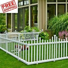 Garden Fence Panels Two No Dig Edging Yard Fencing Decorative Low Border Vinyl 2