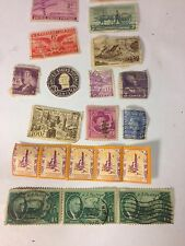 Box of Loose Individual US, English & french Stamps Mostly From the 40's