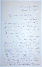 THOMAS WENTWORTH HIGGINSON (1823-1911) Original SIGNED AUTOGRAPHED Letter 1884