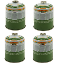 4 x 450g Camping / Fishing Gas Canisters - Cartridges - Refill Bottles Stove etc