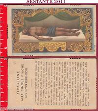 2117 SANTINO HOLY CARD GESù CRISTO MORTO CINQUE PIAGHE REDENTORE AR 2085