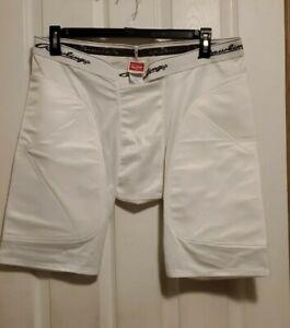 NEW Rawlings Mens Baseball Padded Sliding Compression Shorts Size Adult XL White