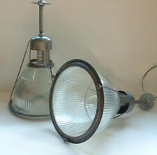 """1 Holophane 685 14"""" TALL SIZE Industrial Warehouse Light Lobay Glass Shade VTG"""