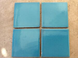 MEXICAN WALL TILES HAND MADE ENGLISH LIGHT BLUE 90 Tiles Covers 1m2. £40