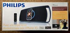 Philips Motorized Portable Speaker Docking Station iPod iPhone 3G Old Style New