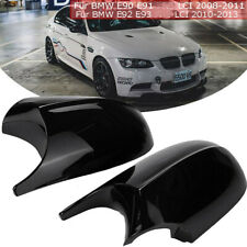 2X M3 Style Black Side Wing Mirror Caps Cover For BMW E90 E91 E92 E93 Facelifted