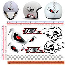 Adesivi casco no fear STAMPA SIMIL ARGENTO sticker helmet print silver 7 pz.