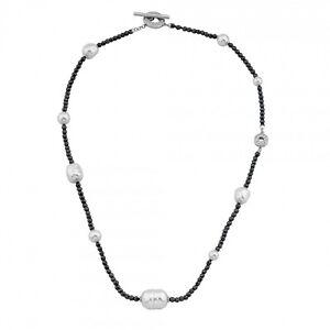 Majorica Women's Baroque Pearls Hematite NIGHT & DAY 18' Necklace OMC15667SW