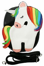 Sleepyville Critters Rainbow Glitter Unicorn Pride Vegan Crossbody Bag Purse