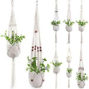 Plant Hanger Macrame Flower Pot Plant Hanging Basket Jute Rope Braided Craf Art