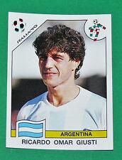 N°123 GIUSTI ARGENTINA PANINI COUPE MONDE FOOTBALL ITALIA 90 1990 WC WM