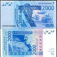 1000 Francs 2017 UNC Lemberg-Zp West African St T