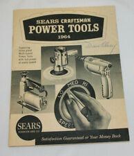 vintage 1964 Sears Craftsman Power Tools catalog