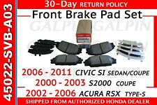 **HONDA S2000/ CIVIC SI/ ACURA RSX** GENUINE OEM 00-03 S2000 FRONT BRAKE PADS