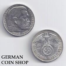 5 Reichsmark Silber 1936 - 1939 A D E F G J - bitte auswählen - Drittes Reich