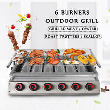 6 Burners LPG Gas BBQ Grill Stainless Steel Outdoor Grill Barbeque Charbroiler