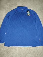 Under Armour 1328495  LG UA Tech 2.0 Mens LG Blue Long Sleeve 1/2 Zip Pullover