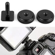 1/4 Inch Dual Nuts Tripod Mount Screws to Flash Camera Hot Shoe Adapter Tool