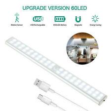 60 LED Motion Sensor Under Cabinet Closet Light USB Rechargeable Kitchen Lamp US