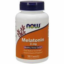 Now Foods Melatonin 3 mg 180 Capsules Free Shipment