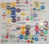 Lot of 100+ Vintage 70's 80's Political Pins Congress Senate