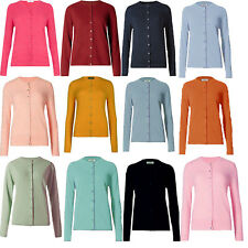 ex M&S Cardigan Classic Collection Ladies Womens Ribbed Round Neck