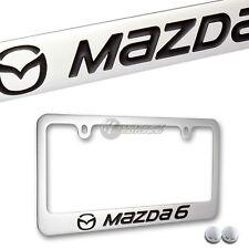 MAZDA MAZDA6 Chrome Brass Metal License Plate Frame w/ Screw Caps NEW!! MAZDA 6