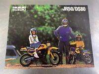 Suzuki 1991 JR50 DS80 Brochure Dealer Sales Literature 91 Motorcycle