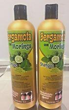 2x Shampoo MORINGA & BERGAMOTA Detiene la Caida de Pelo Hecho en Mexico