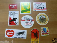 STICKER,DECALS SET ANIMALS HORSES,PAARDEN LOT OF ABOUT 20 STICKERS SEE PICTURES