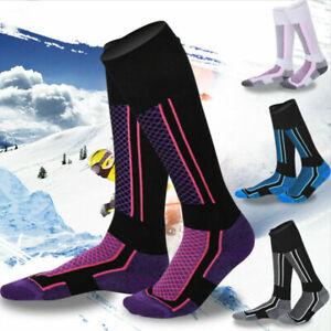 2Pair Waterproof Long Warm Breathable Ski Socks Thicken Winter Sports Men Women