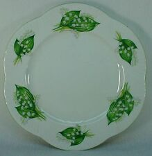 """SHELLEY china LILY OF THE VALLEY 13822 Dainty DINNER PLATE 10-7/8"""" scratches"""