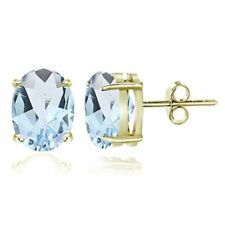 Topaz Gold Stud Fine Earrings