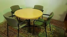 """CAFÉ  CONFERENCE TABLE  42"""" LIGHT CHERRY LAMINATE MADE IN USA."""
